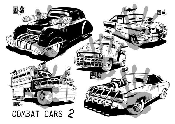 Badass gunslingers and lethal combat cars 2.