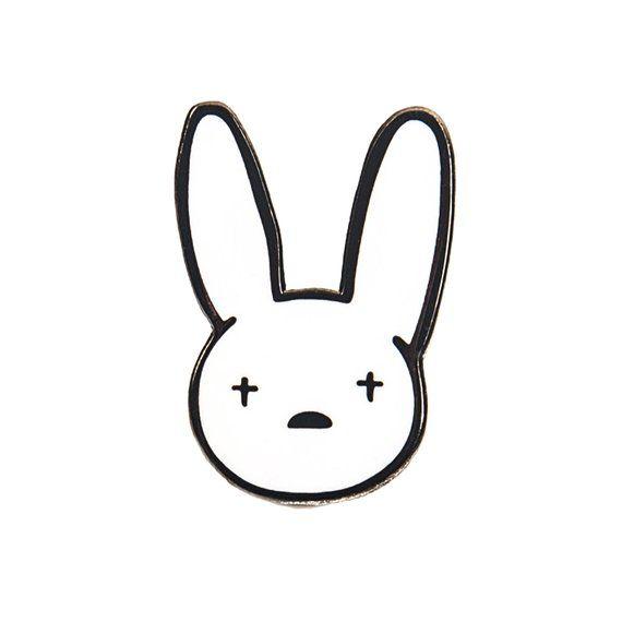 Bad Bunny Enamel Pin.