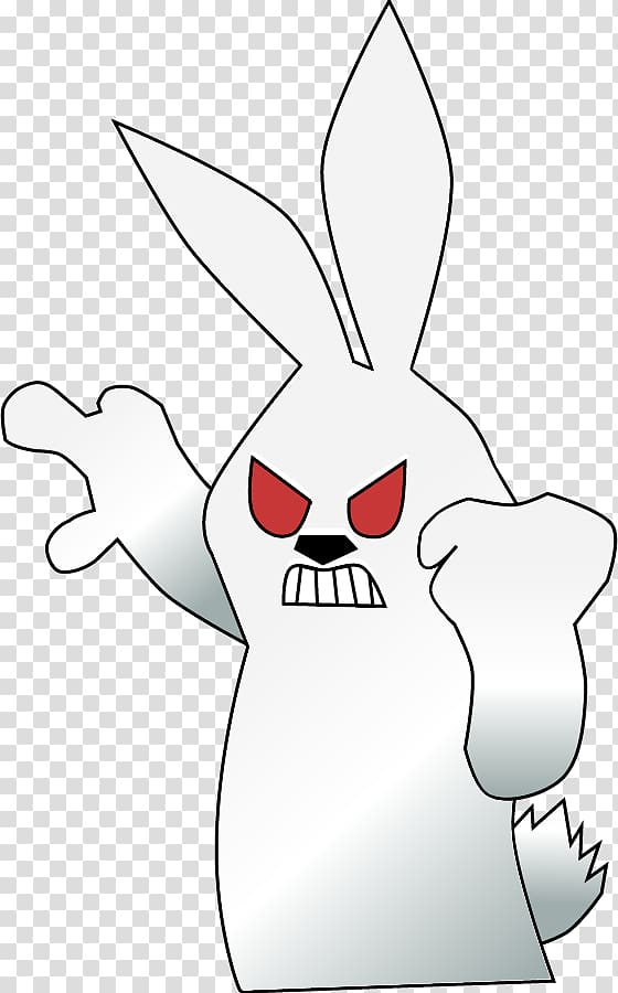 Domestic rabbit Easter Bunny Hare , bad bunny transparent.