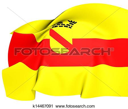Clipart of Flag of Baden.