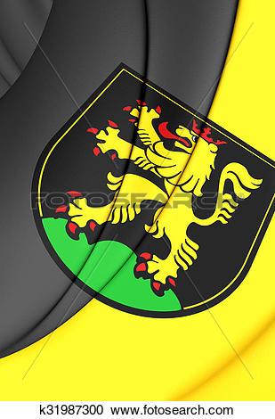 Stock Illustrations of Flag of Heidelberg (Baden.