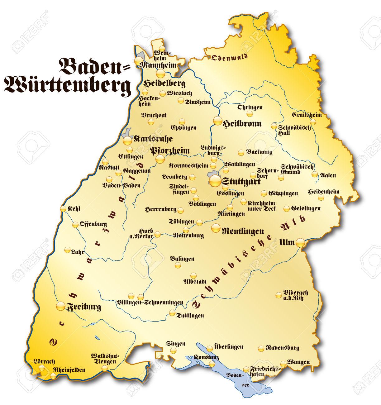 Map Of Baden.