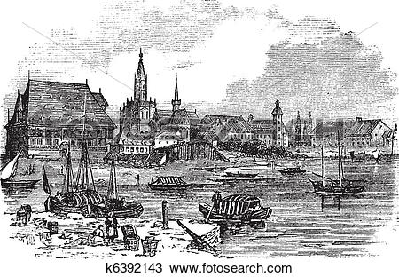 Clipart of Konstanz in Baden.