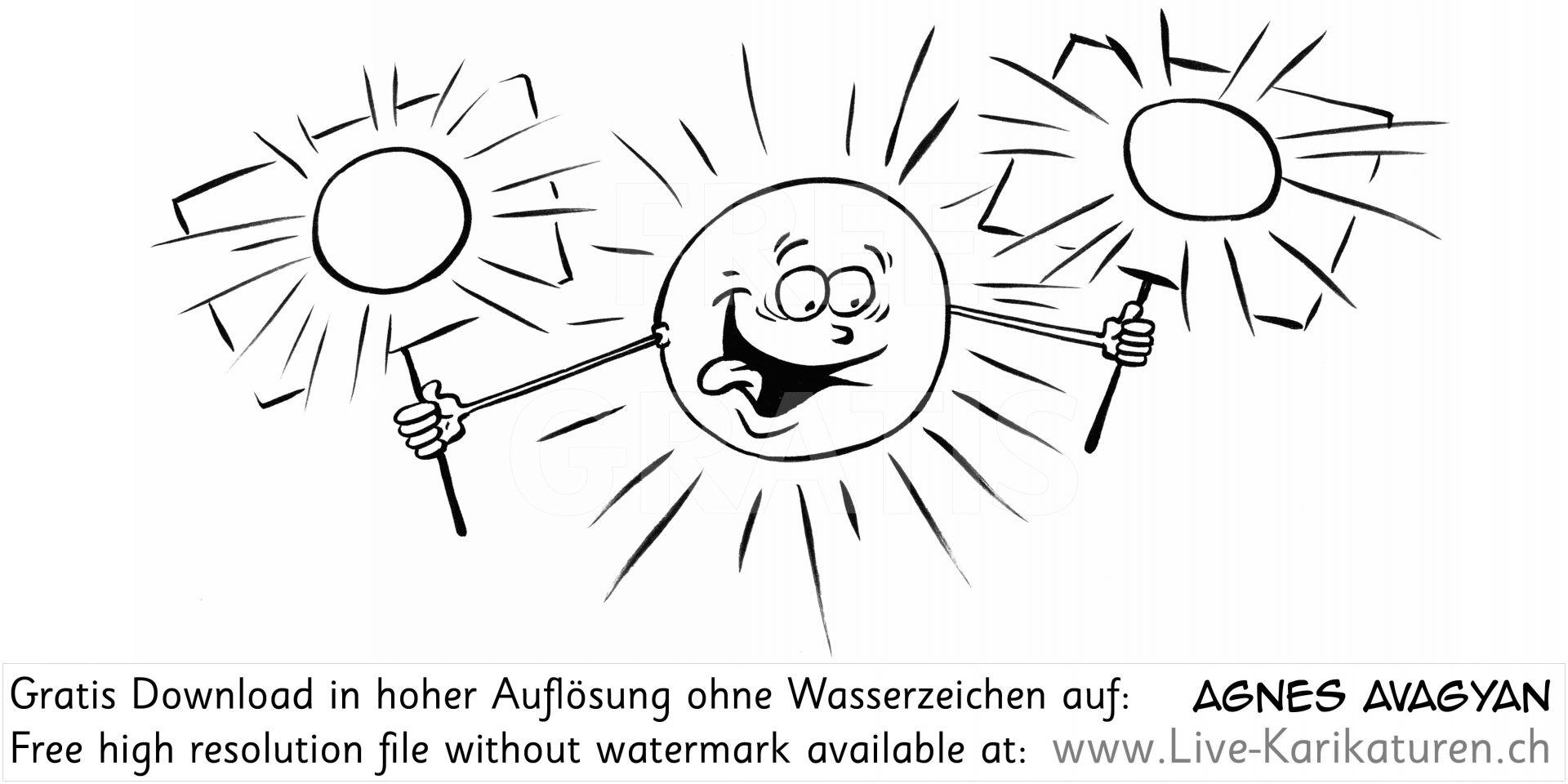 Sonne Schönwetterperiode Hitzesommer.