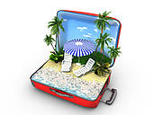 Stock Illustrations of Package beach vacation k14025430.