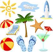 Clip Art of Tropical Drinks k7782499.