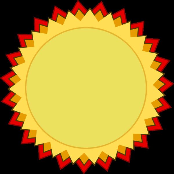 Blank award of achievement badge vector clip art.