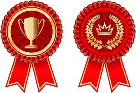 Medal badge ribbon free vector download (6,073 Free vector.