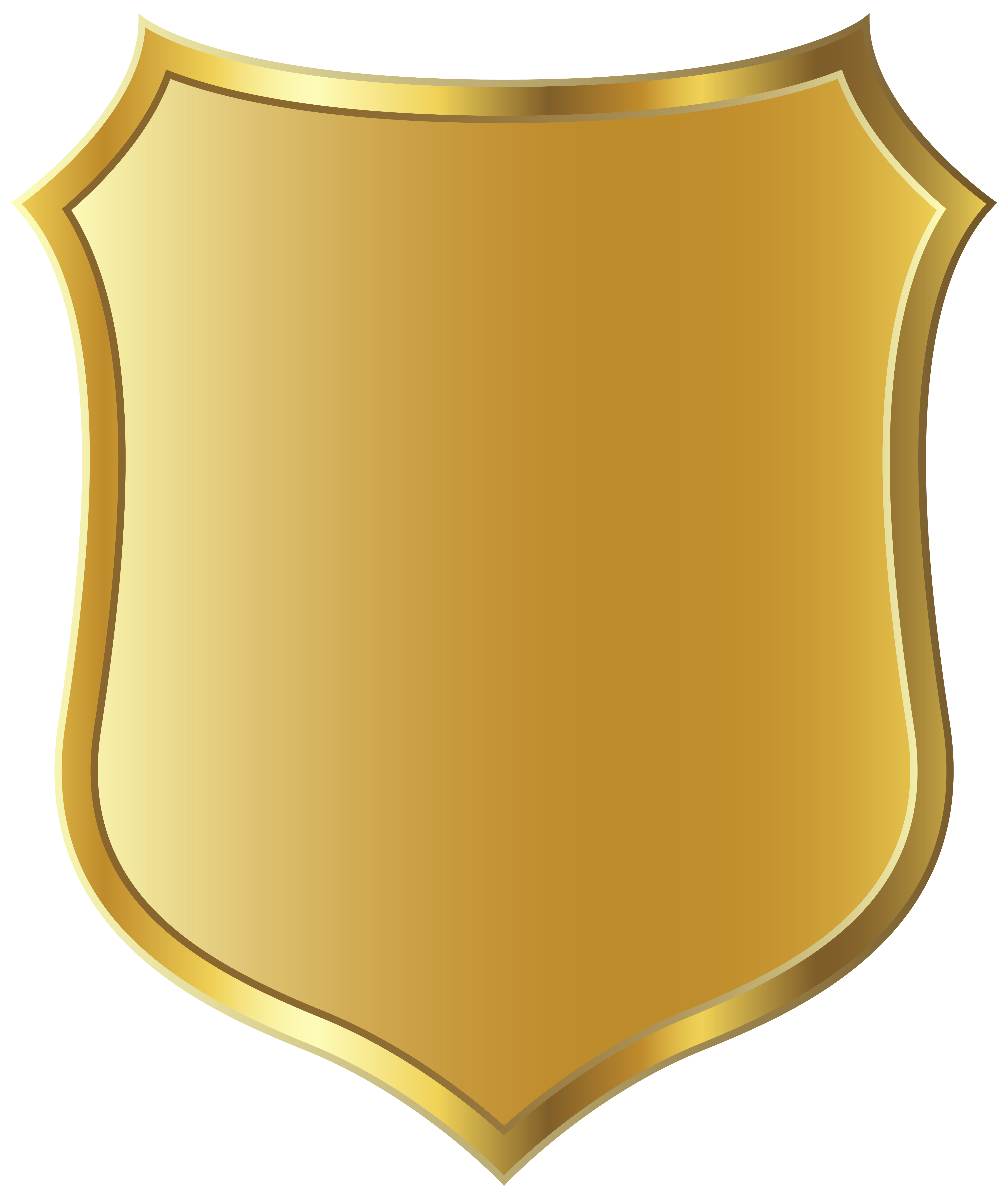 Gold Badge Template Clipart Picture.
