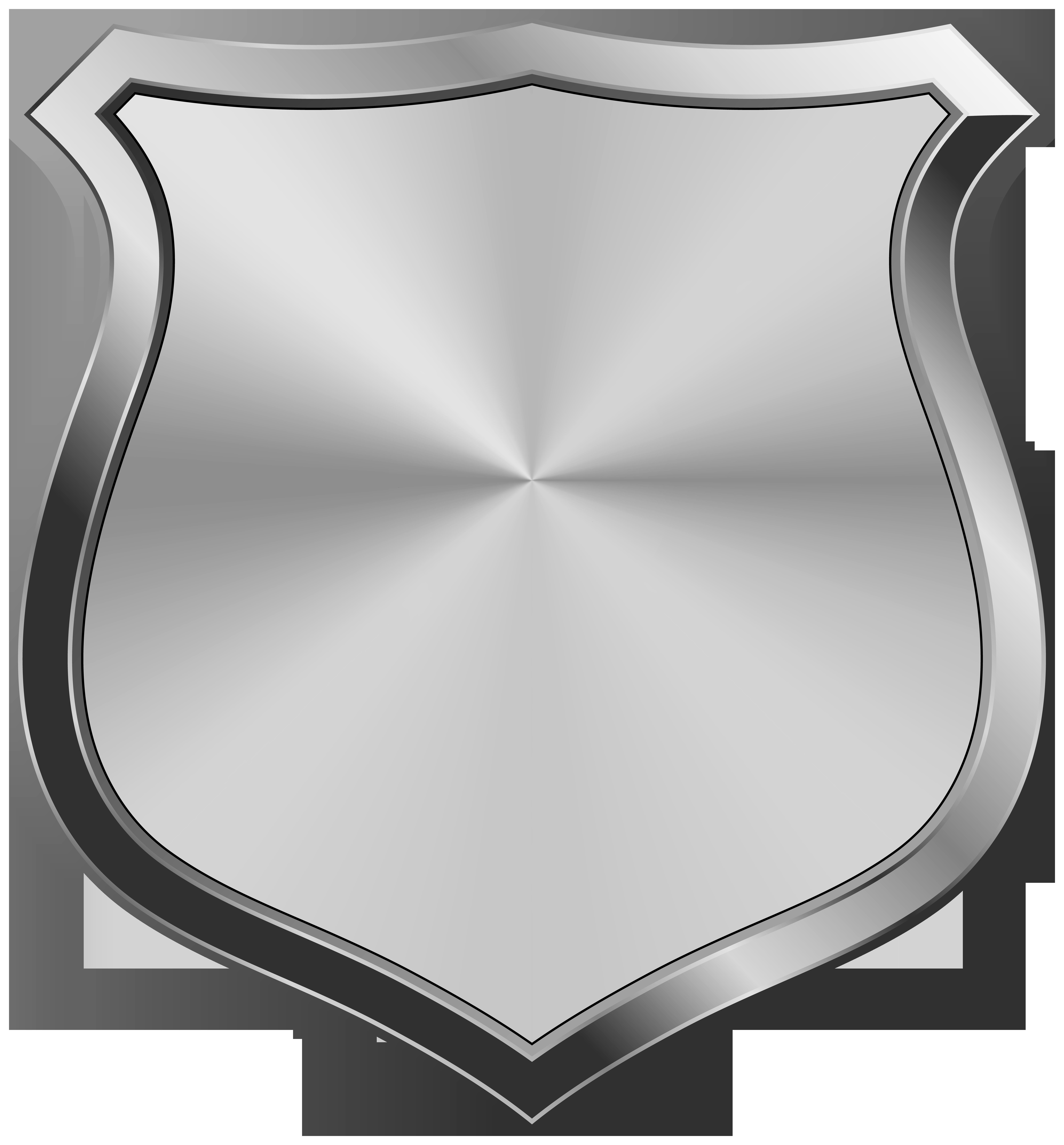 Silver Badge Clip Art Transparent Image.