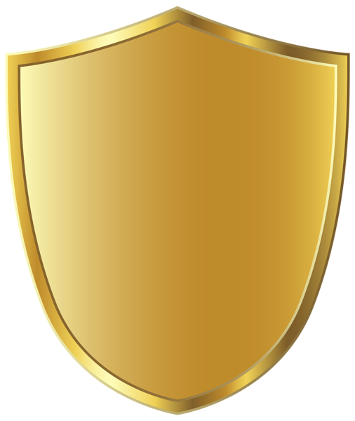 Golden Badge Template Clipart Image.