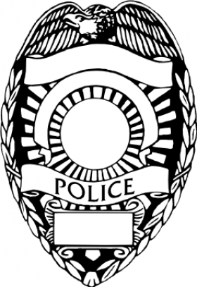 643 Police Badge free clipart.