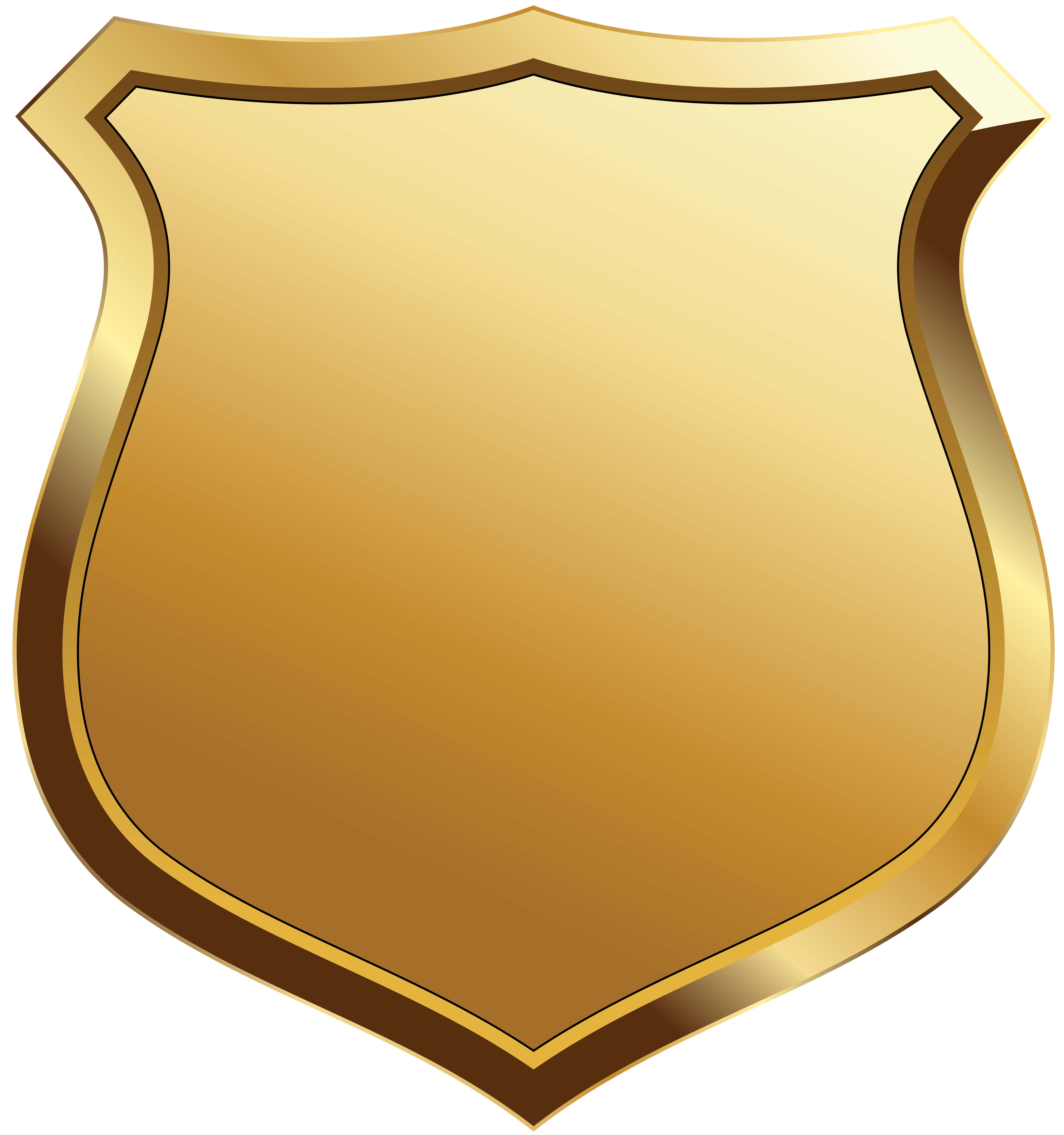 Gold Badge Template Clip Art Image.