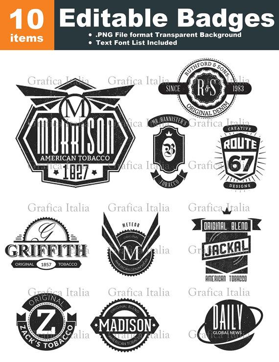 Retro Blank Badge / Logo Templates.