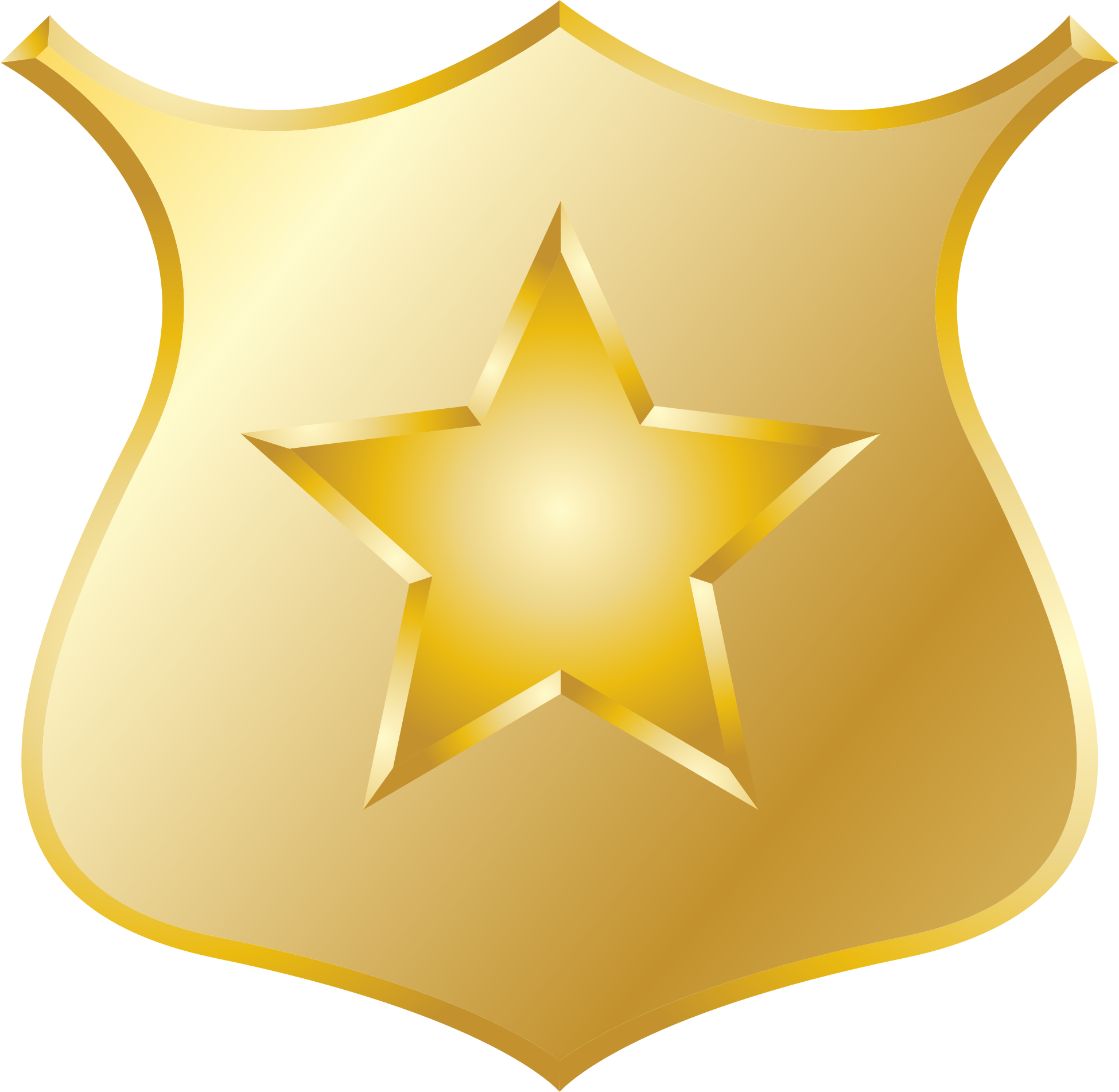 Gold police badge icon #12508.