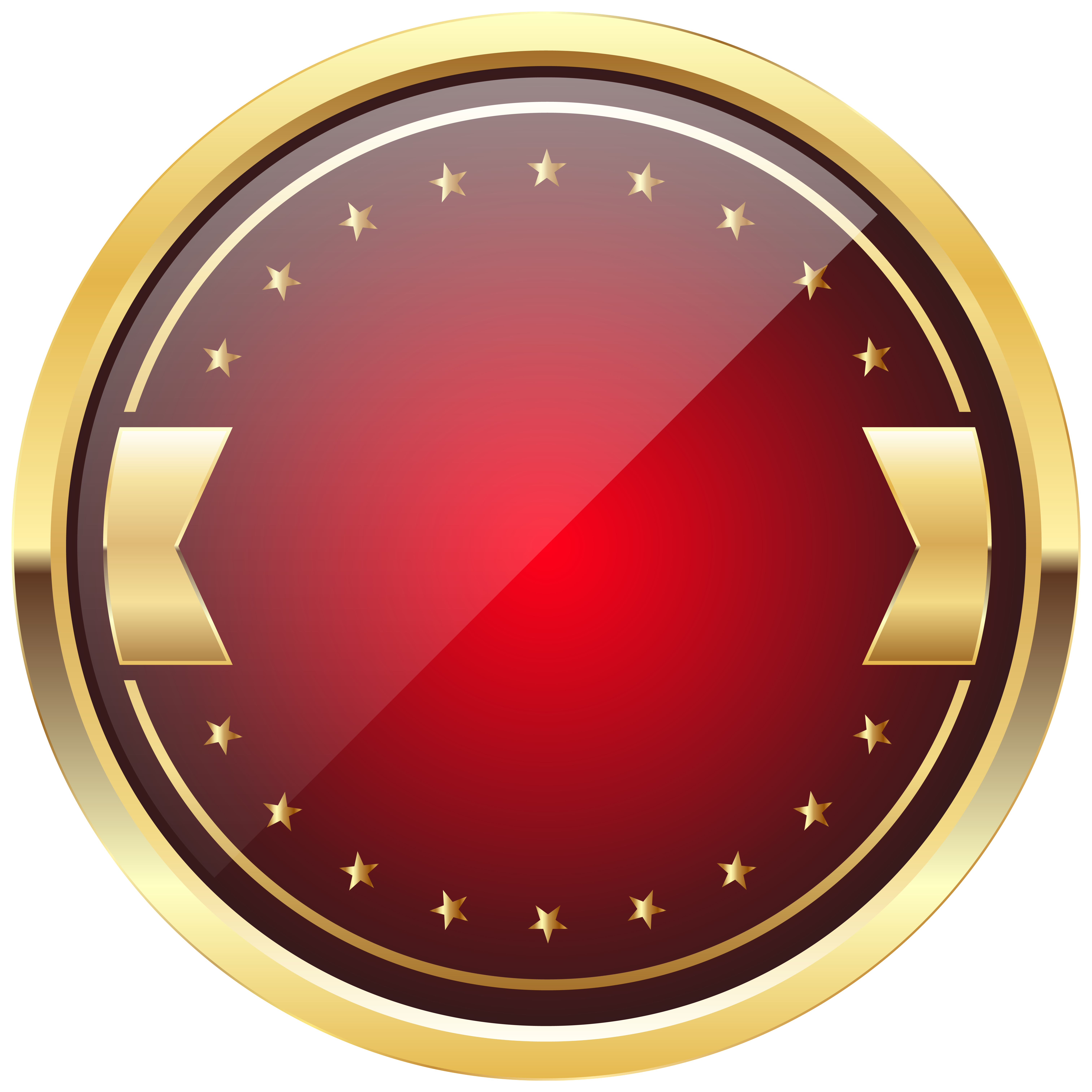 Red and Gold Badge Template PNG Clip Art Image.