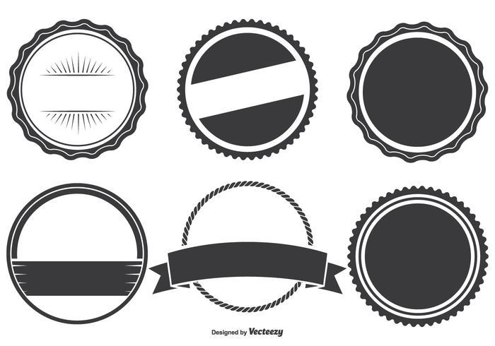 Assorted Badge Shapes Set.