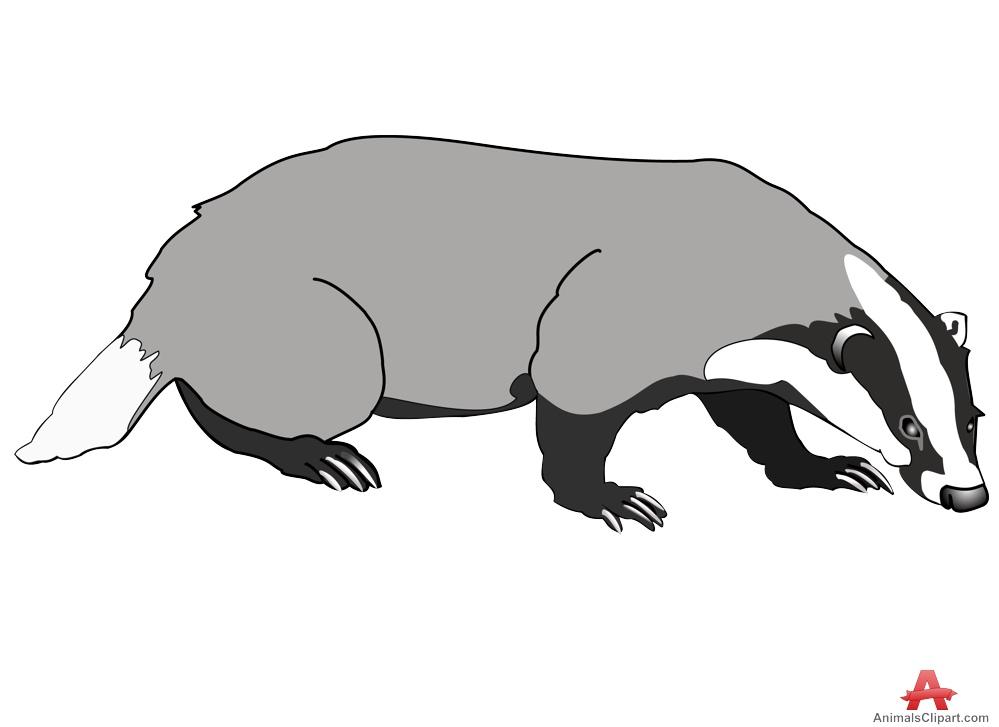 Badger Clipart.