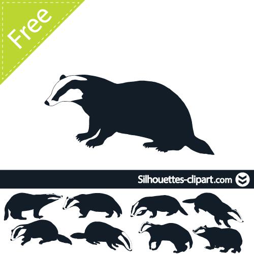 badger vector silhouette.
