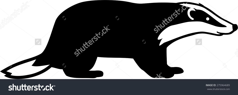 Badger Silhouette Stock Vector 275964689.