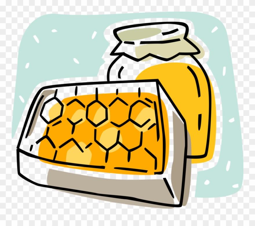 Vector Illustration Of Apiary Honey Production Honeycomb.
