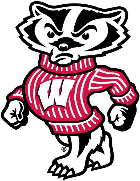 Wisconsin Badgers Mascot Logo.