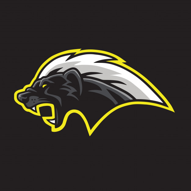 Honey badger mascot logo template vector Vector.