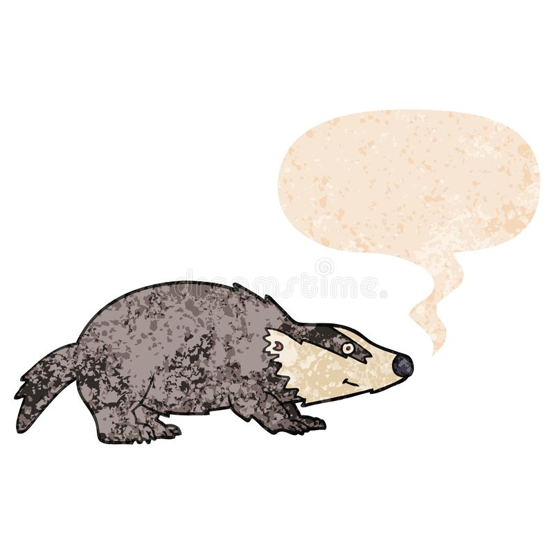 Retro Badger Stock Illustrations.
