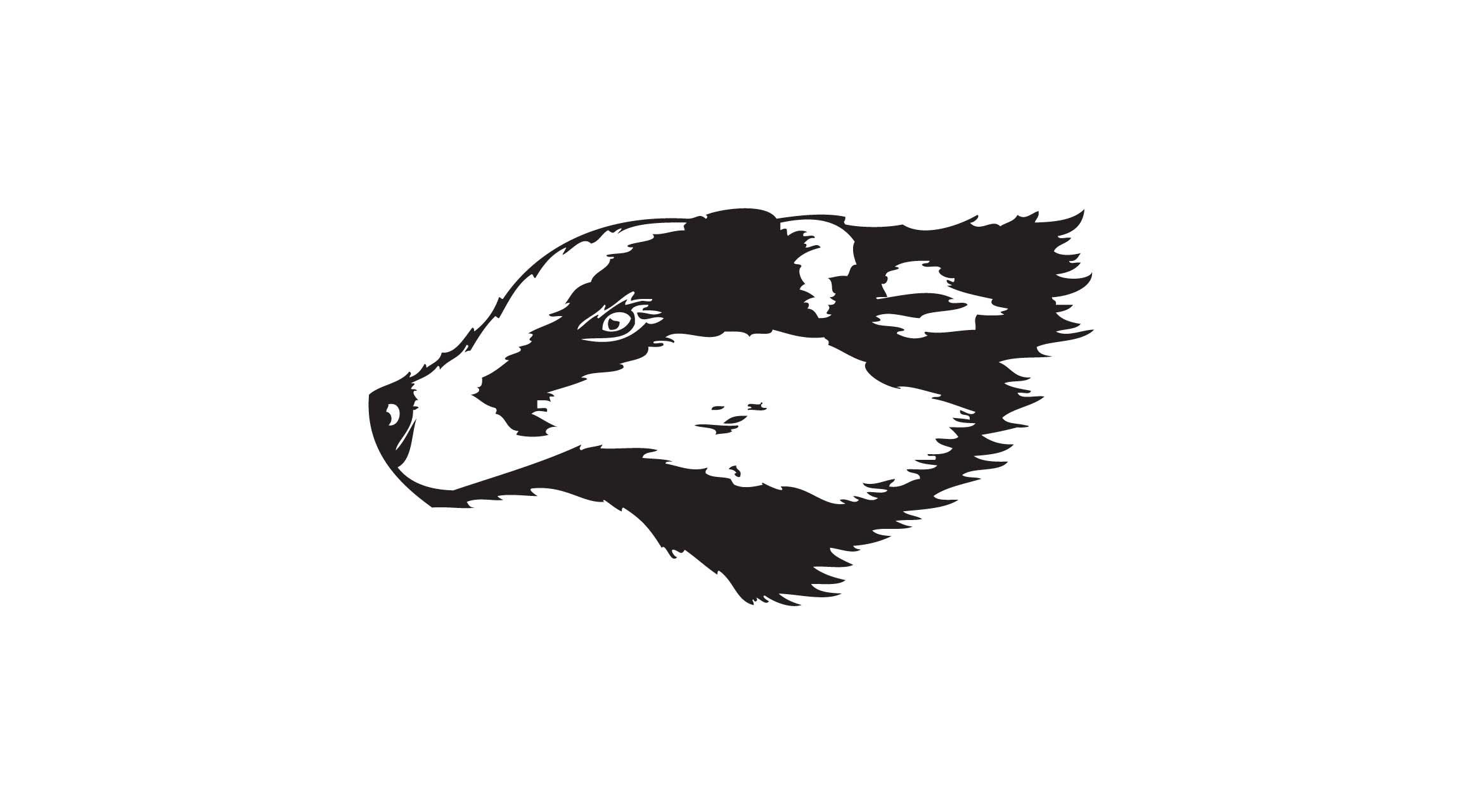 Free clip art badger.