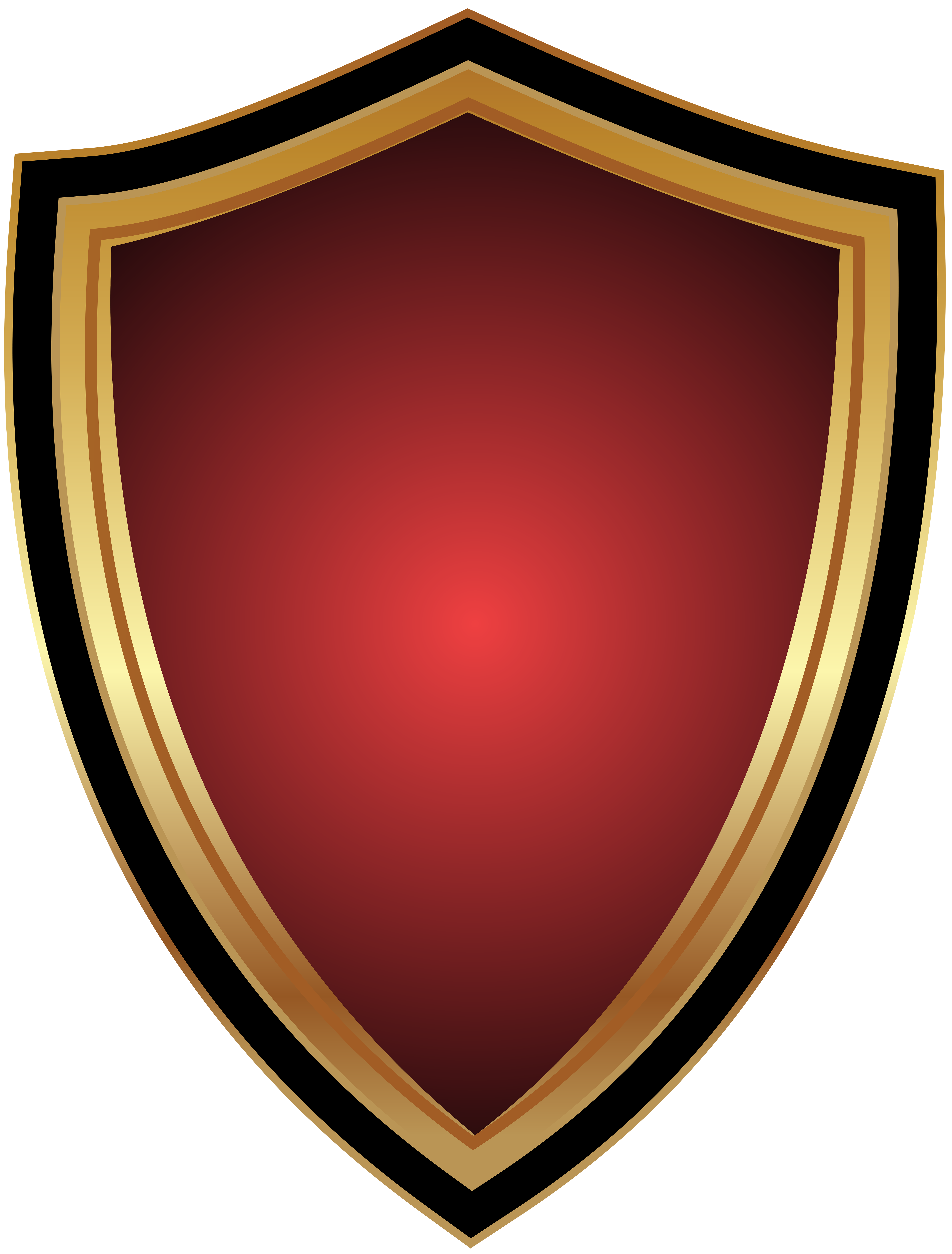 Red Badge Transparent Clip Art PNG Image.