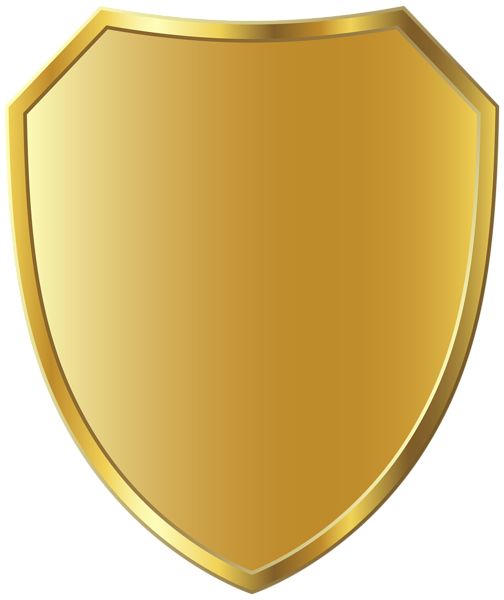 Gold Badge Template Clipart Image.