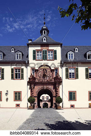 Stock Photo of Bad Homburg Castle, Bad Homburg, Main.