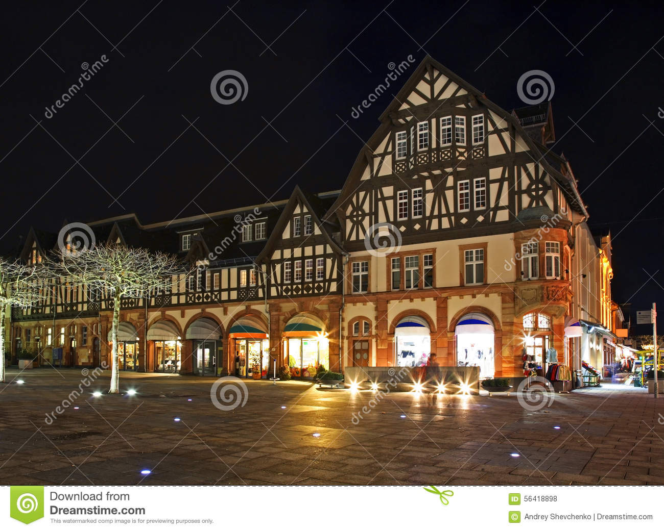 Market Square In Bad Homburg. Germany Stock Photo.