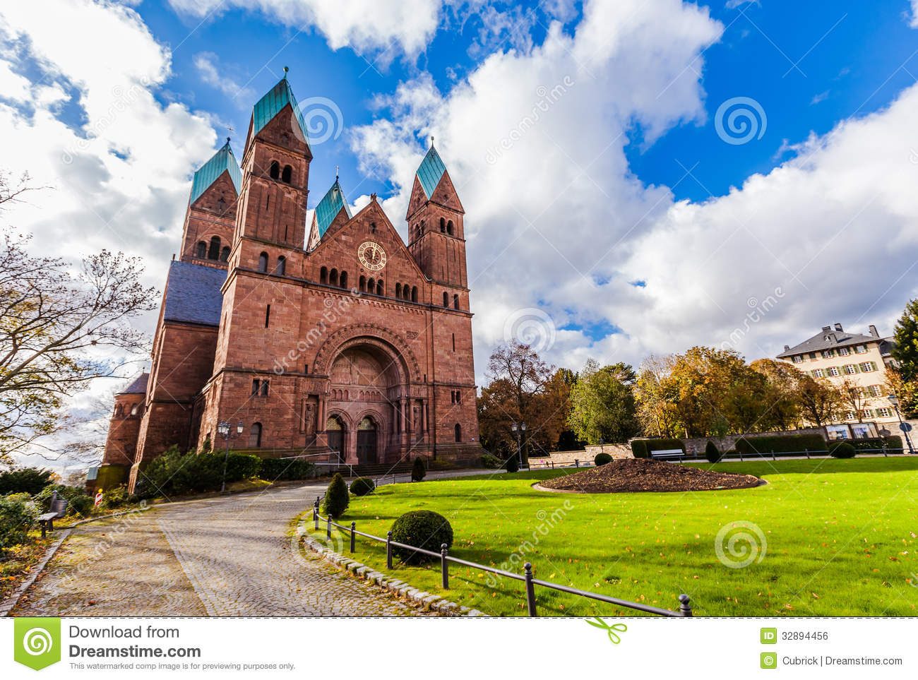 Church In Bad Homburg Royalty Free Stock Image.
