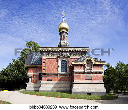 Stock Photograph of Russian Orthodox Church of All Saints, Russian.