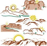 Badlands Stock Illustrations.