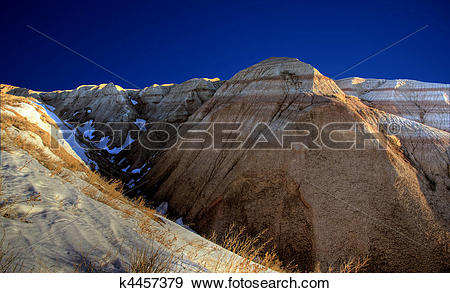 Stock Photograph of South Dakota Badlands k4457379.