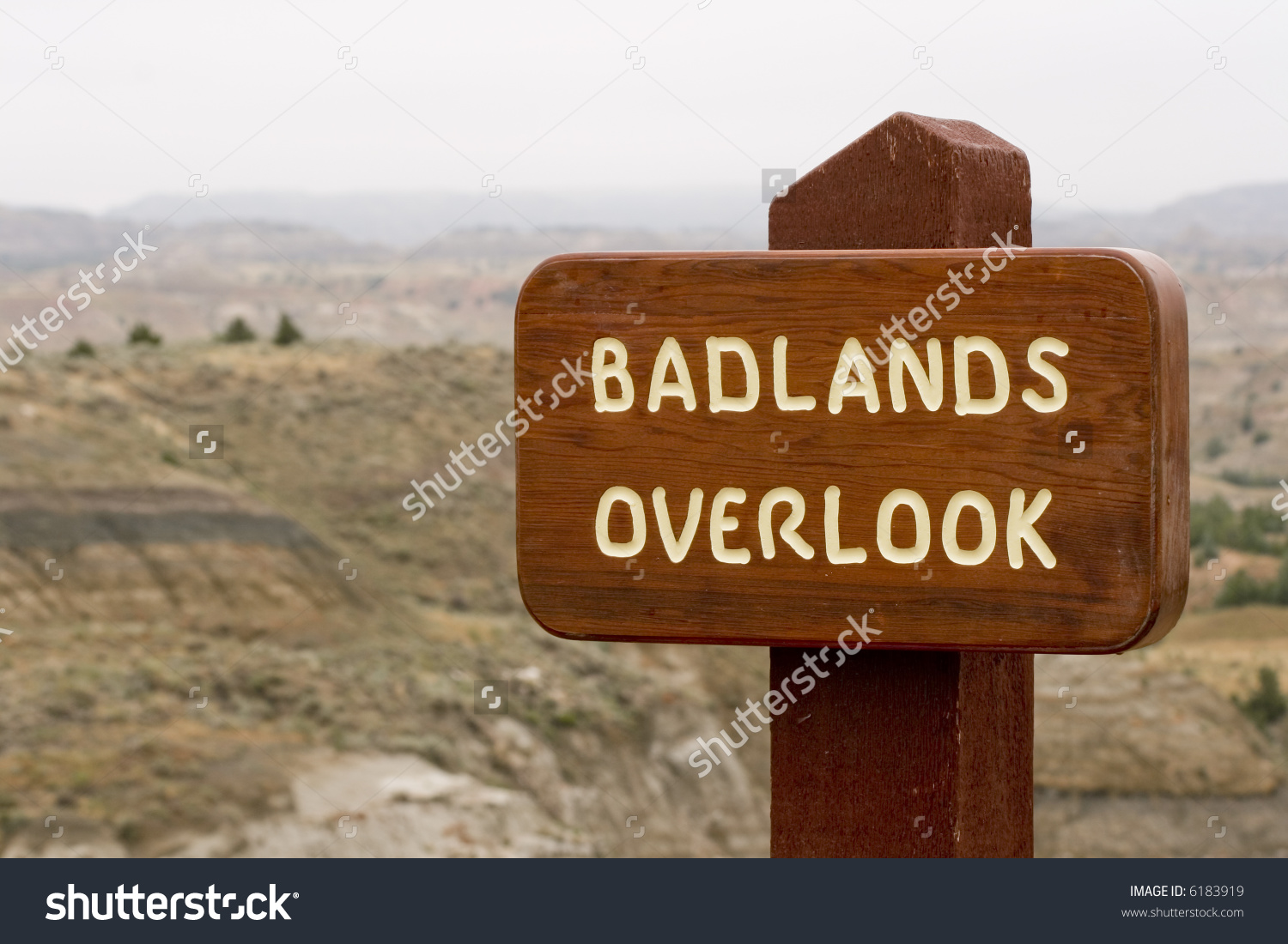 North Dakota Badlands Overlook Stock Photo 6183919 : Shutterstock.