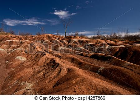 Stock Image of Chetland Badlands.