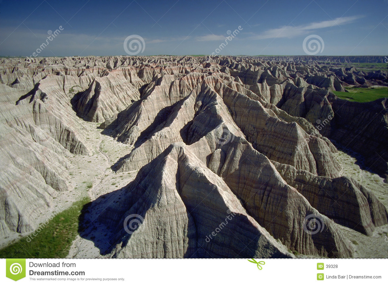 Badlands Of South Dakota, Aerial Royalty Free Stock Photos.