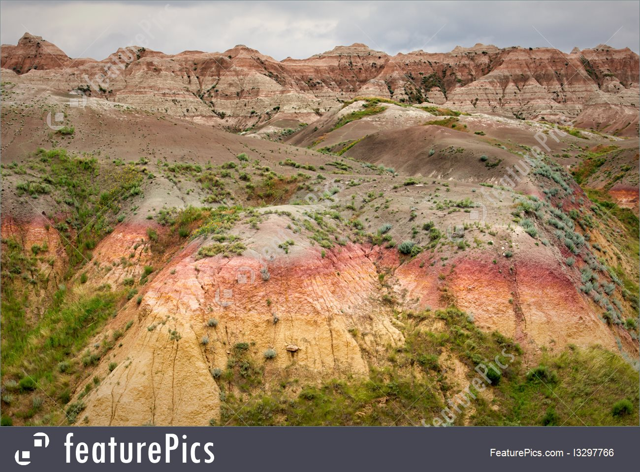 Geological Formations: Badlands National Park.