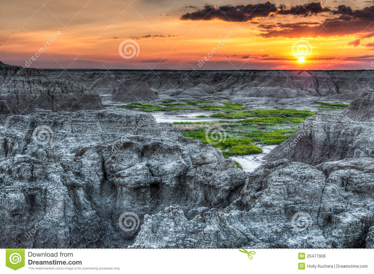 Door Trail Sunrise In Badlands National Park Royalty Free Stock.