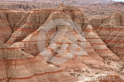 Badlands National Park Stock Photography.