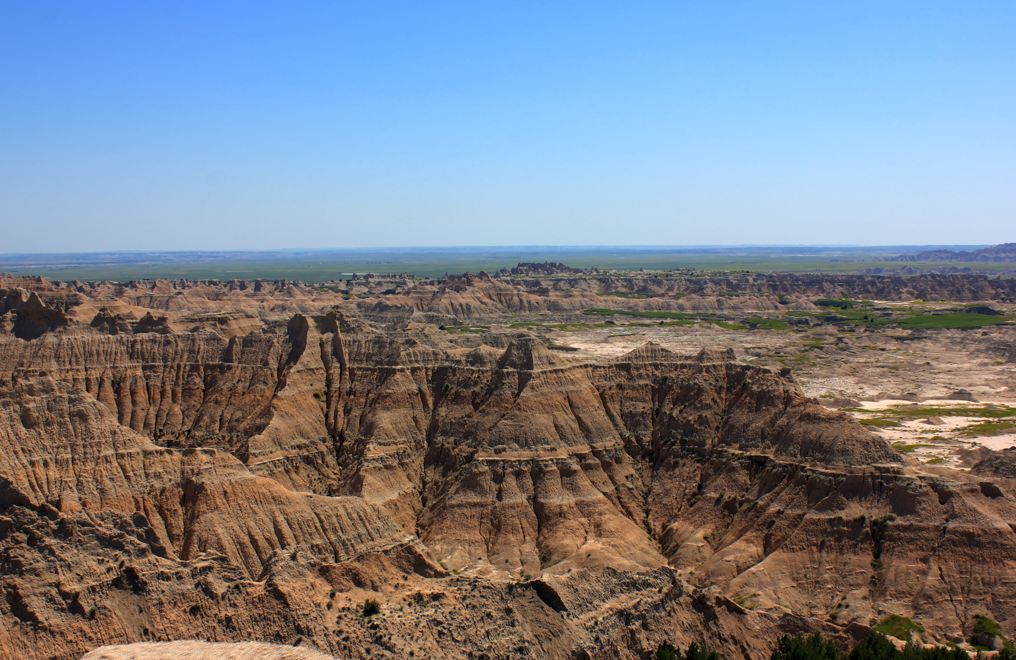 Major Hills and Pinnacles at Badlands National Park, South Dakota.