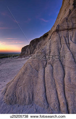 Pictures of Formations and patterns on Castle Butte at sunset in.