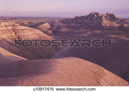 Stock Image of The Badlands, Badlands National Park, SD, South.