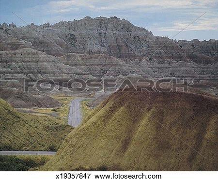 Picture of Rainbow Overlook, Badlands National Park, South Dakota.