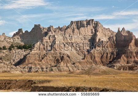 South Dakota Badlands National Park Stock Photos, Royalty.