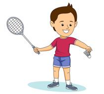 Badminton player clipart