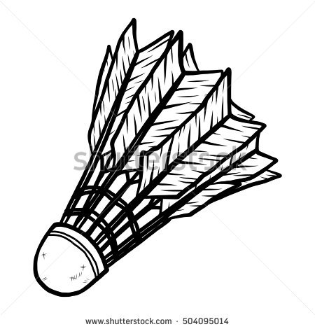 Cartoon Badminton Stock Images, Royalty.